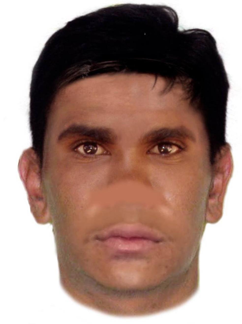 Polícia da Austrália divulga retrato falado de suspeito 'sem nariz' (Foto: Western Australia Police Force/Facebook)