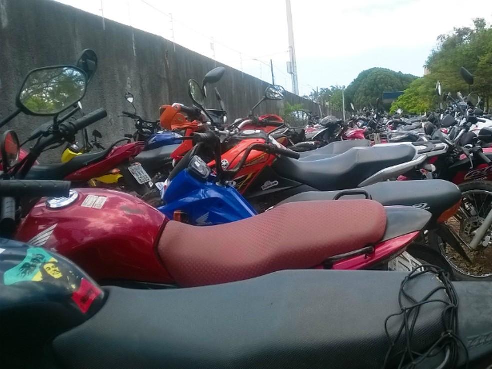 Motocicleta apreendidas pelo Detran — Foto: Divulgação/Detran-RN