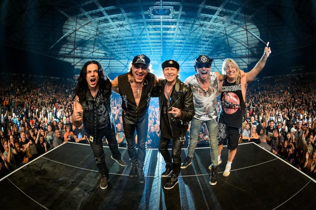 A banda alemã Scorpions — Foto: Divulgação