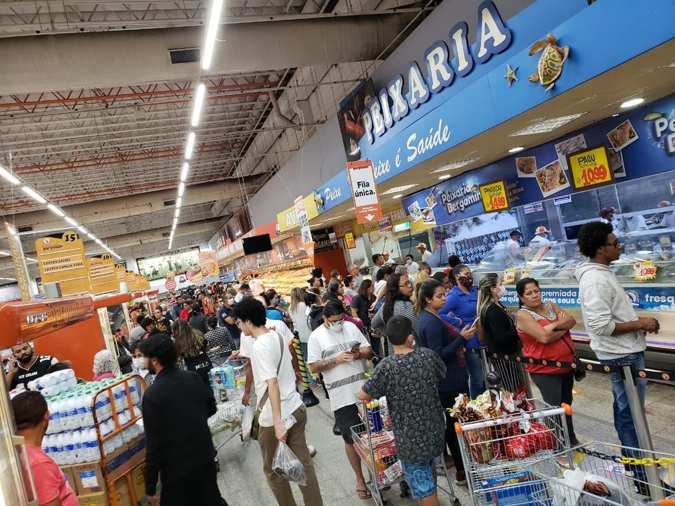 Supermercado na Zona Norte de São Paulo — Foto: Arquivo pessoal
