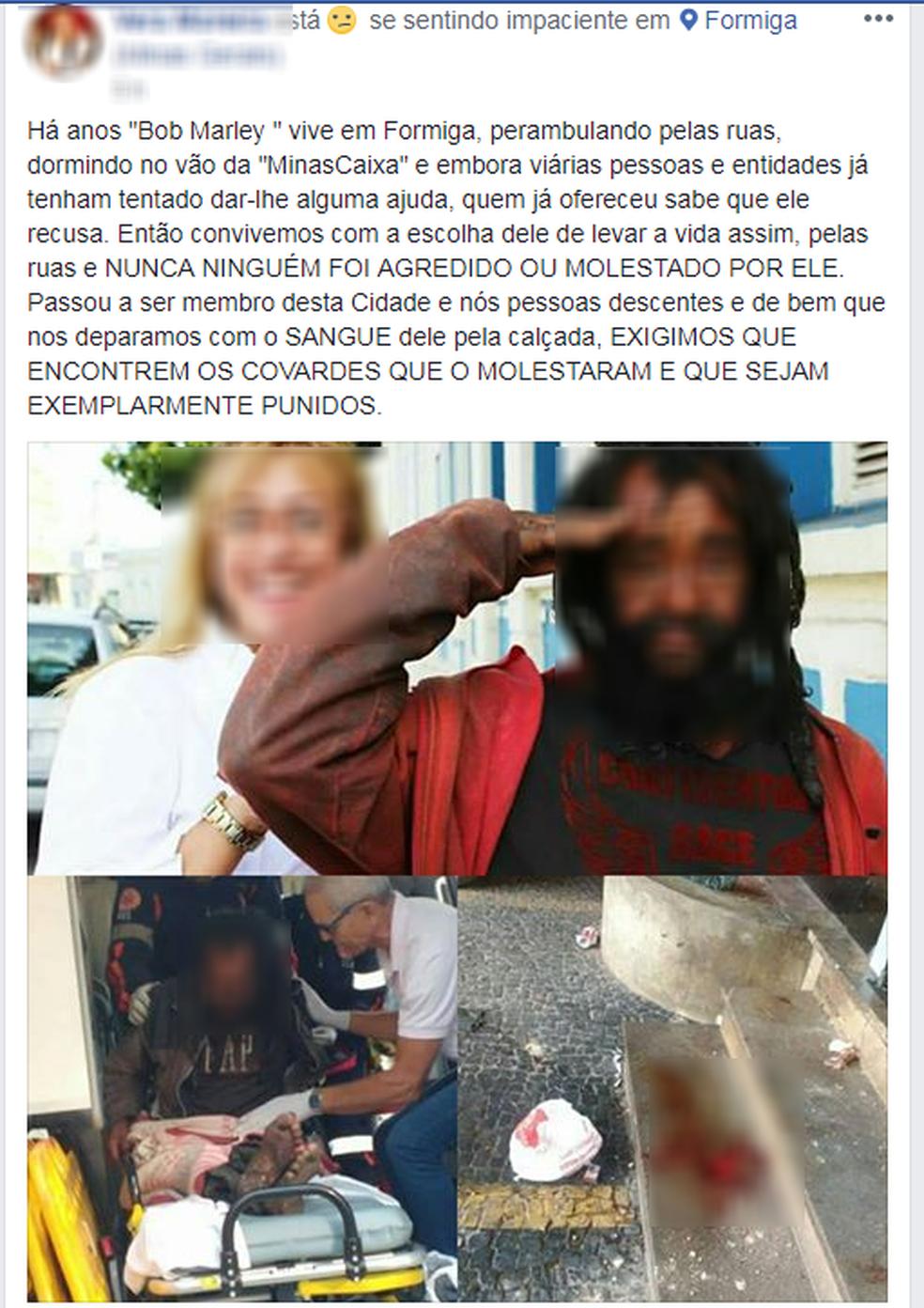 -  Nas redes sociais, uma moradora demonstrou indignação com o ataque  Foto: Reprodução/Facebook