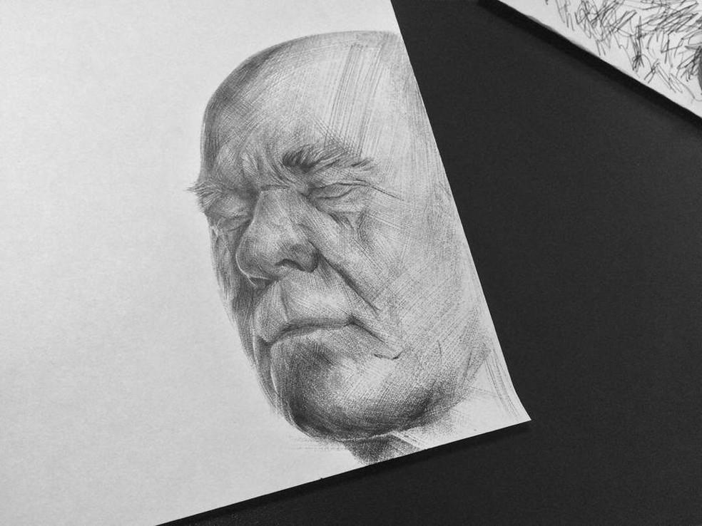 Desenho feito por Eduard — Foto: Arquivo pessoal