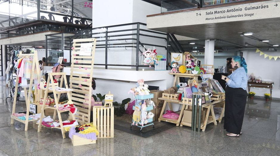Feira de mulheres empreendedoras, em Brasília, promovida pela rede Maternativa (Foto: Valter Campanato/Agência Brasil)