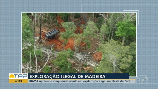 Ibama apreende maquinários e equipamentos usados em exploração ilegal de madeira em Santarém