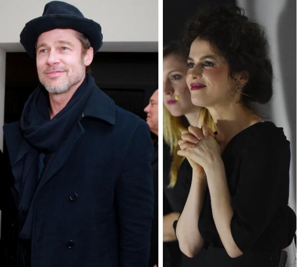 O ator Brad Pitt e sua nova namorada, a arquiteta Neri Oxman (Foto: Getty Images)