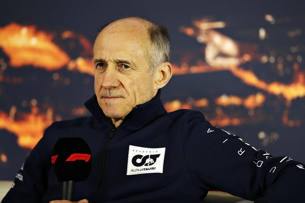 Franz Tost é chefe da equipe Alpha Tauri — Foto: Getty Images
