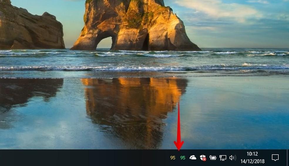Aplicativo continua monitorando temperatura em segundo plano — Foto: Reprodução/Helito Beggiora