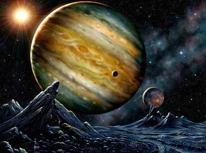 Desenho representa a estrela HD 23079 e o planeta que a orbita (Foto: Divulgação)
