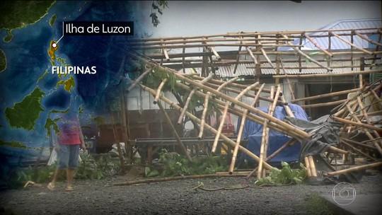 Deslizamento de terra após tufão 'engole' edifício nas Filipinas; 4 morrem e 30 estão soterrados