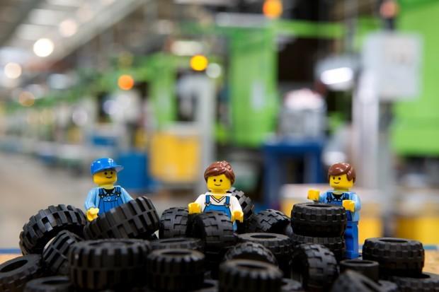 Pneus de Lego (Foto: Divulgação)