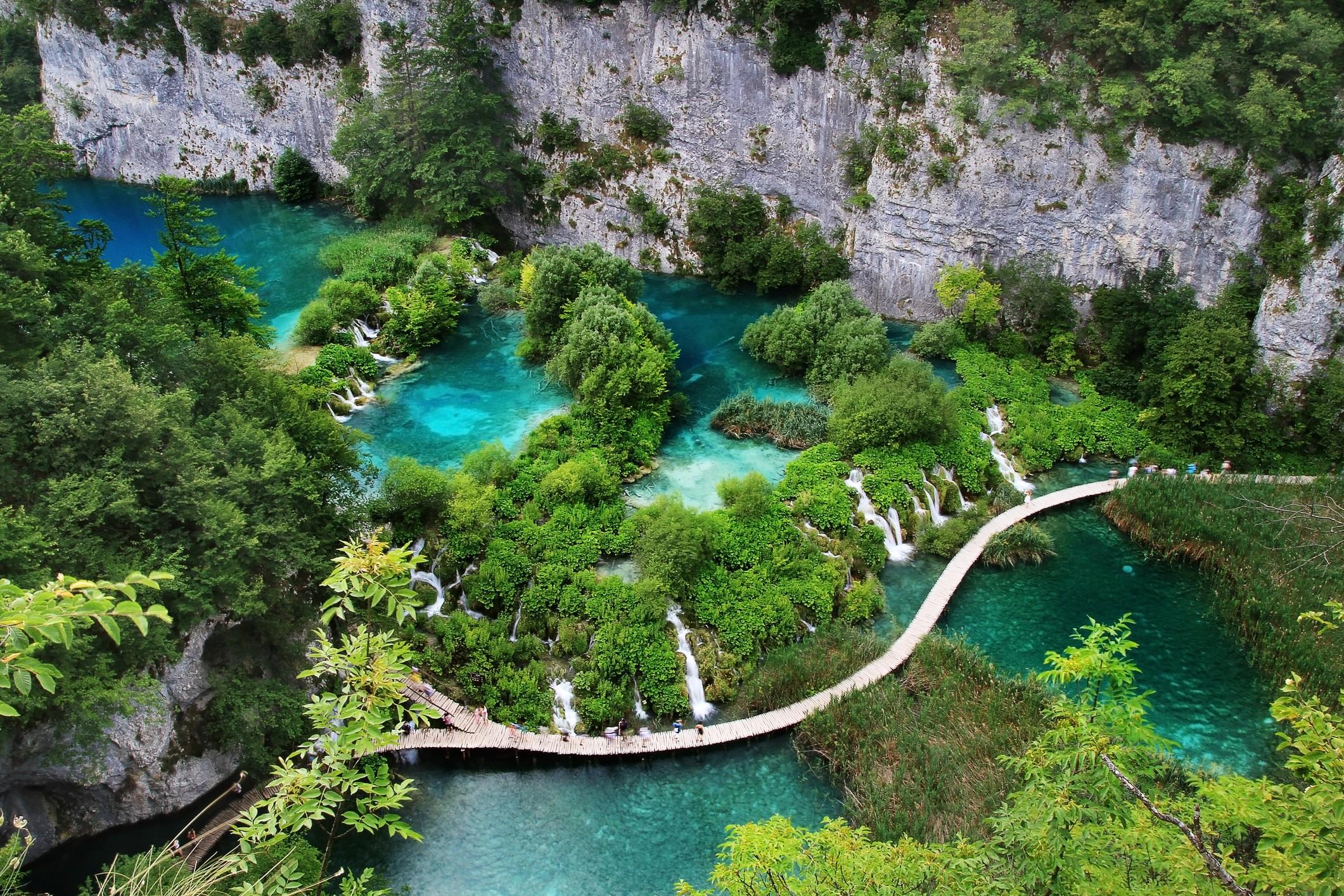 O lago Plitvice, na Croácia (Foto: Divulgação)