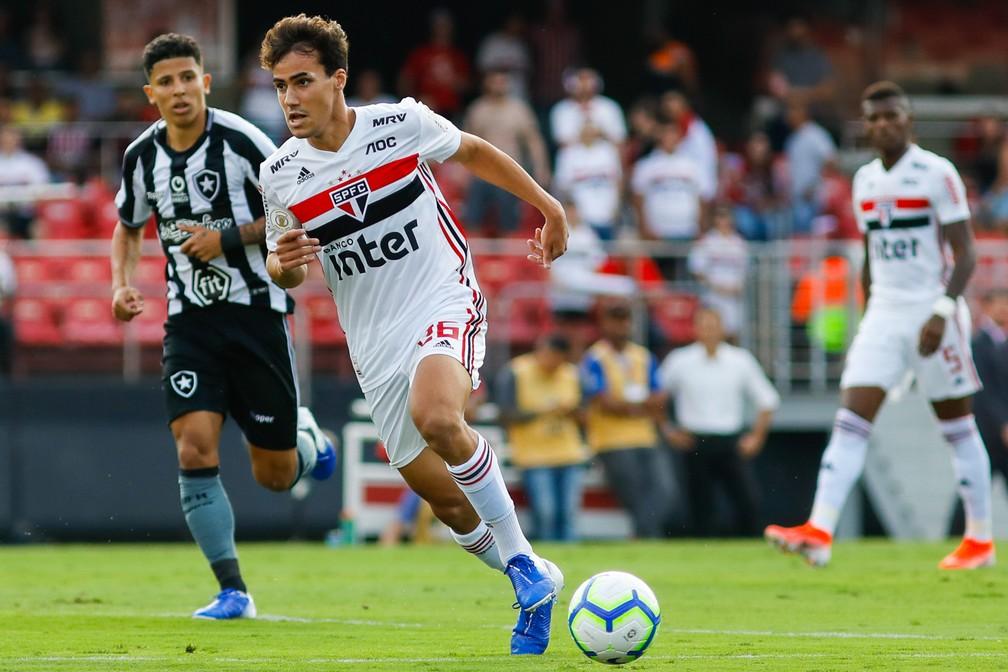 Igor Gomes em seu único jogo no Brasileirão como titular — Foto: Ricardo Moreira/BP Filmes