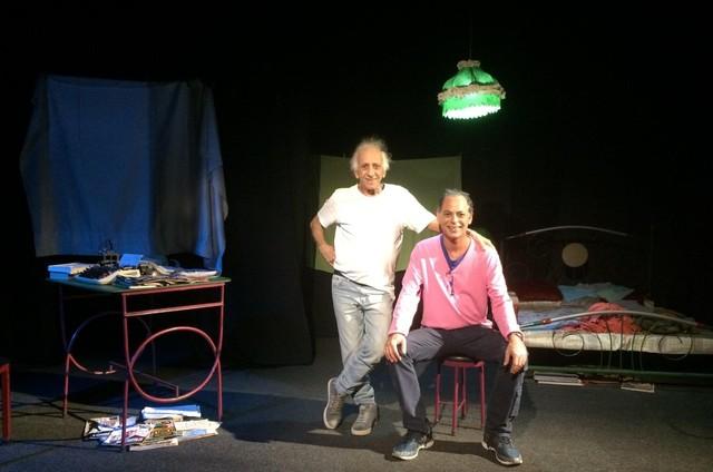 Flávio Migliaccio e o filho Marcelo (Foto: Reprodução/ Facebook)