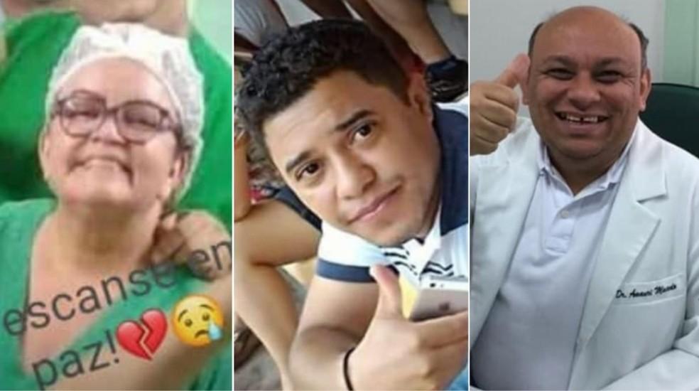 Maria Madalena, Sérgio Henrique e José Amauri eram profissionais da saúde e morreram por Covid-19 no Maranhão — Foto: Arquivo pessoal