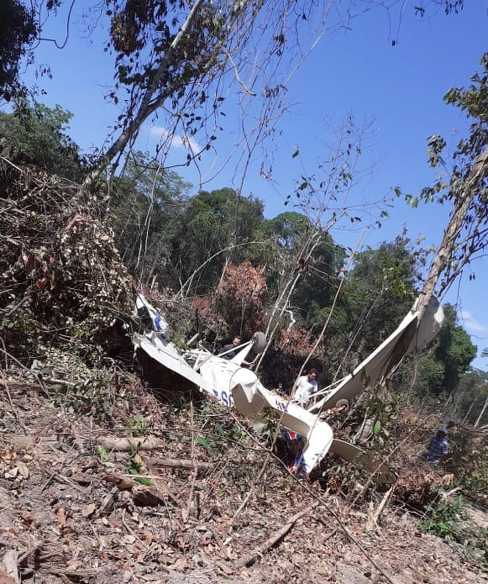 Avião caiu logo após decolar no norte do estado — Foto: Divulgação