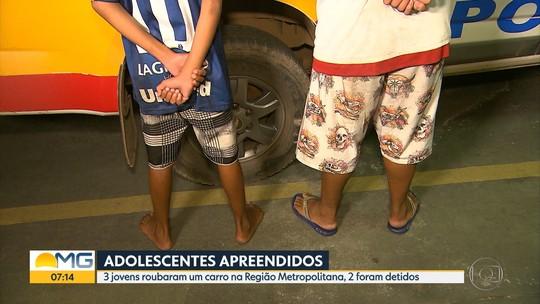 Adolescentes suspeitos de usar tesoura para roubar carro são detidos em Ibirité