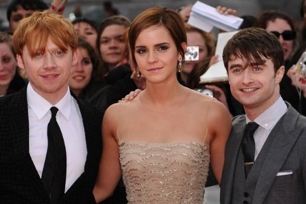 Rupert Grint, Emma Watson e Daniel Radcliffe (Foto: Getty Images)