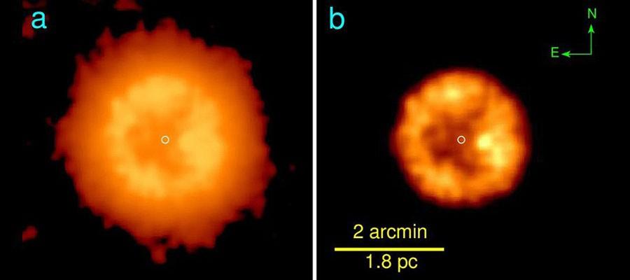 Duas estrelas se uniram para formar a J005311 (Foto: Divulgação)