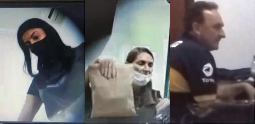 Operação Reciclagem: Glaucione, Lebrinha e Luiz Schock filmados recebendo propina — Foto: Reprodução