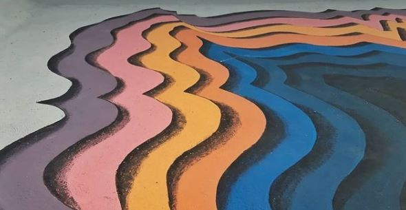 Argentina logra convertir piscinas en murales (Foto: Reproducción / Instagram de Amanke Murals)