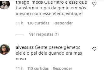 Internautas comentam semelhança de João e Rafel Vitti (Foto: Reprodução Instagram)