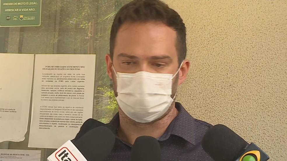 Diogo Prosdocimi falou sobre o sumiço das caixas de licitação na delegacia — Foto: Reprodução/ TV Globo