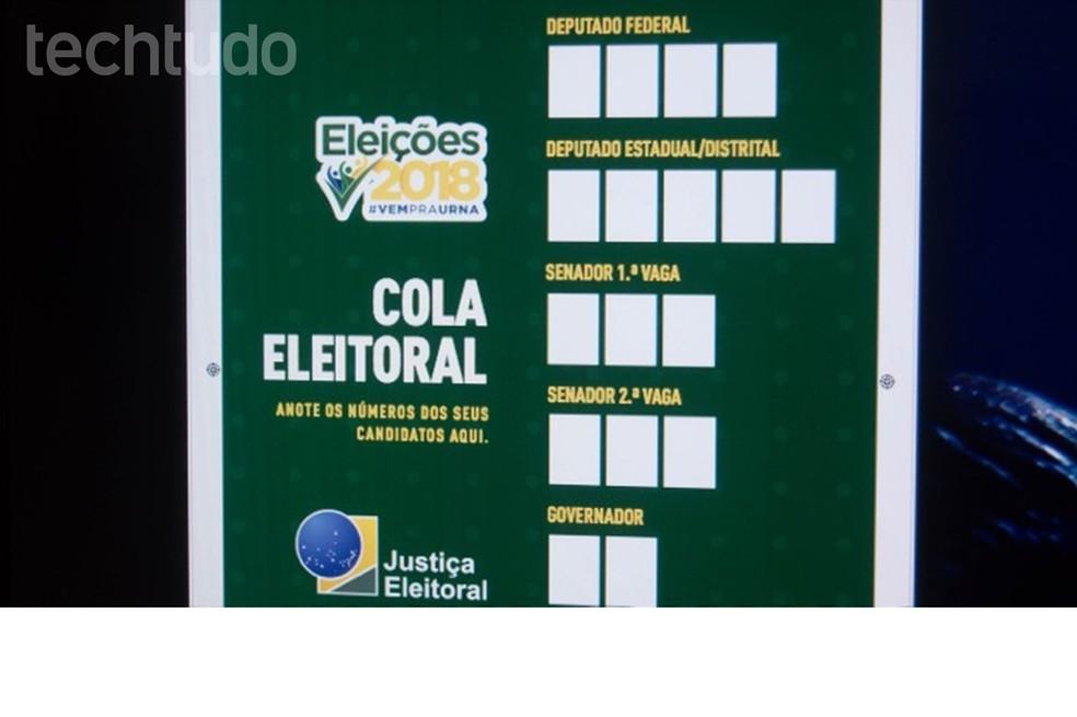 Cola Eleitoral Baixe E Imprima O Santinho Oficial Do Tse