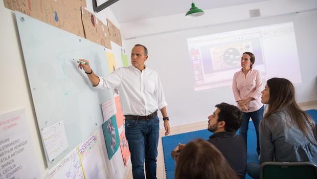 Projeto da Pró-Saber foi eleito o melhor do ano por mentores da Ambev (Foto: Diogo Moreira/Divulgação)