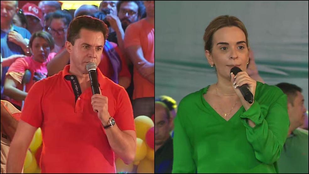 Senadores eleitos pela Paraíba:  Veneziano Vital do Rêgo (PSB) e Daniella Ribeiro (PP) — Foto: TV Cabo Branco/Reprodução