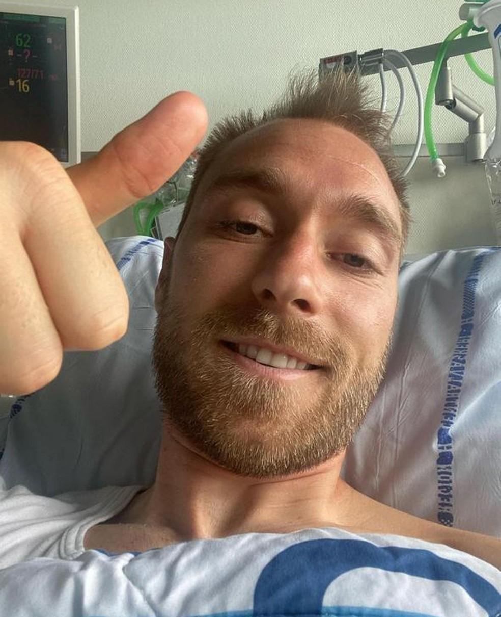 Christian Eriksen posta foto e agradece carinho recebido após mal súbito