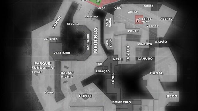 overpass no cs go veja nomes dos lugares no mapa competitivo do