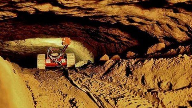 Foi a primeira vez que robôs foram usados em uma exploração arqueológica no México (Foto: SERGIO GÓMEZ/TLALOCAN/INAH)