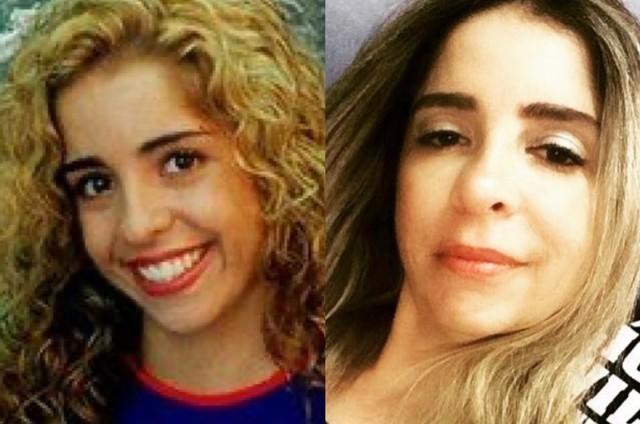 Mônica Areal na 'Malhação' e atualmente (Foto: TV Globo - Reprodução/Instagram)