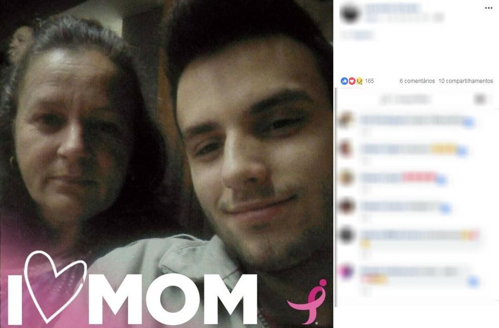 Rapaz foi preso suspeito de matar a mãe em Itápolis — Foto: Reprodução/Facebook