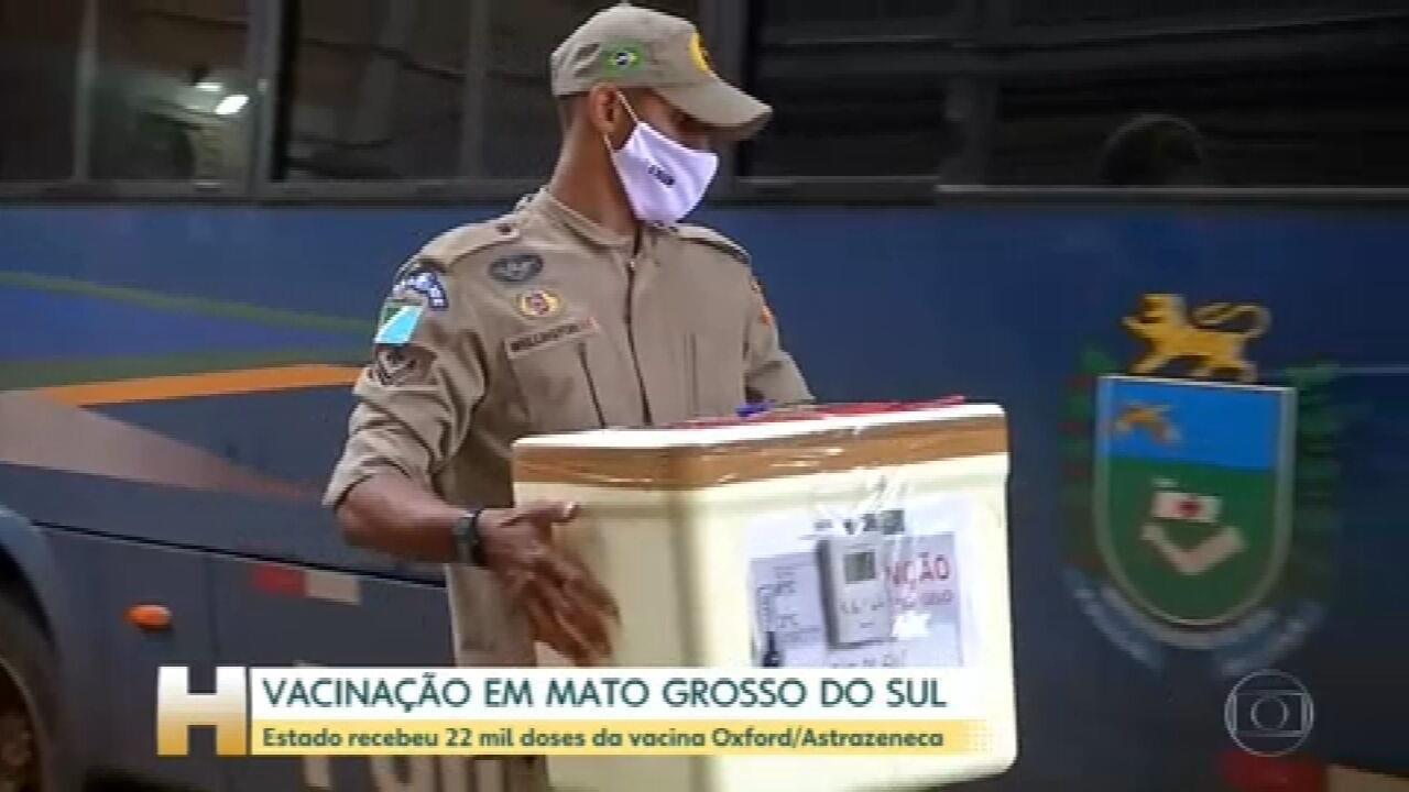 Em Mato Grosso do Sul, as vacinas da Oxford/Astrazeneca já começaram a ser distribuídas