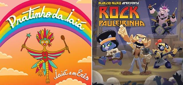 As capas dos discos de Iara Rennó e da banda de Marcio Nigro (Foto: Reprodução)