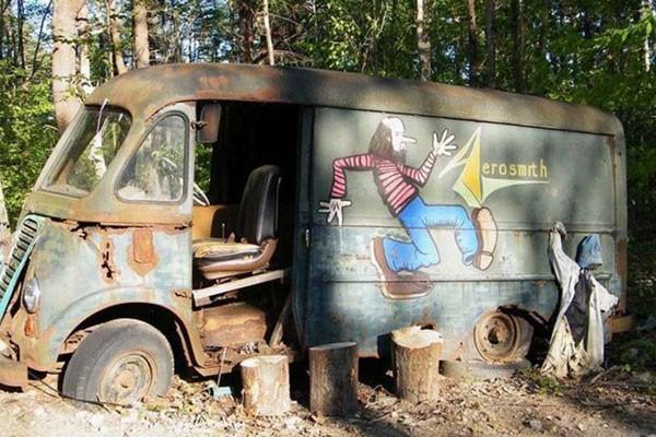 Van foi usada pela banda Aerosmith na década de 70 (Foto: Reprodução)