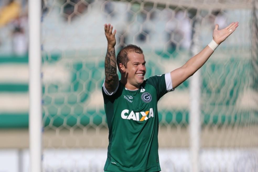 Tiago Luís tem sido decisivo para o Goiás no mata-mata do Goianão — Foto: Zuhair Mohamad/O Popular