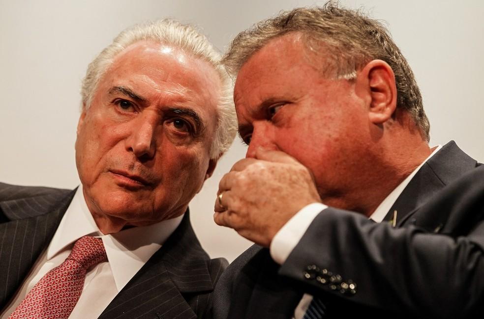O ministro da Agricultura, Blairo Maggi, e o presidente Michel Temer (Foto: Beto Barata/PR)