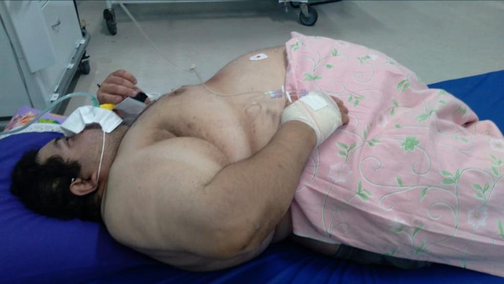 Carlos Alberto Félix da Silva estava internado no Hospital Regional de João Câmara desde segunda-feira (23) — Foto: Cedida