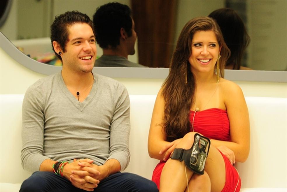 O casal Nasser e Andressa no BBB113 😍😍😍 (Foto: João Cotta/Globo)