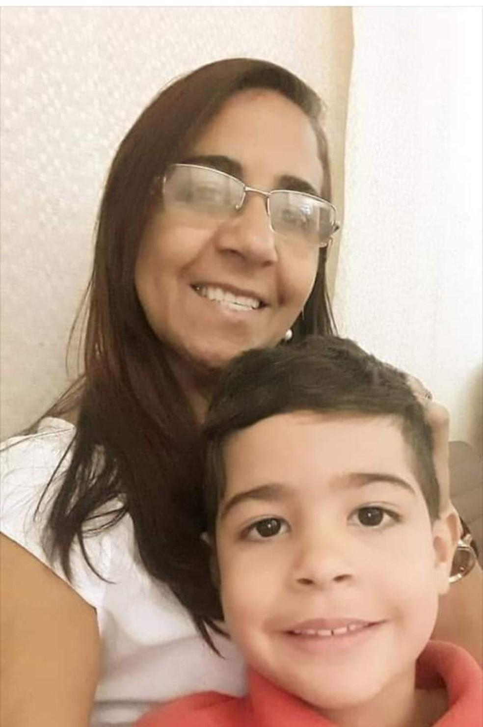 Maria Cleide e o filho Pedro Lucas  — Foto: Arquivo Pessoal
