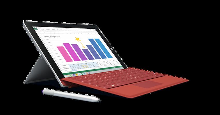 Microsoft anuncia o tablet Surface 3 por U$$ 499
