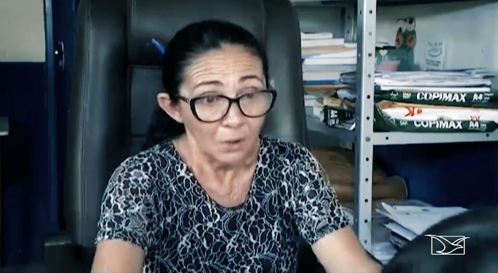Helena Rita Ferreira Sousa, diretora da Escola Profª Augusta Maria Costa Melo — Foto: Reprodução/TV Difusora