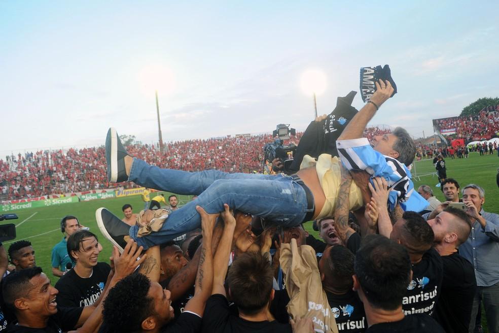 Renato é campeão gaúcho pelo Grêmio (Foto: Wesley Santos/Agência PressDigital )