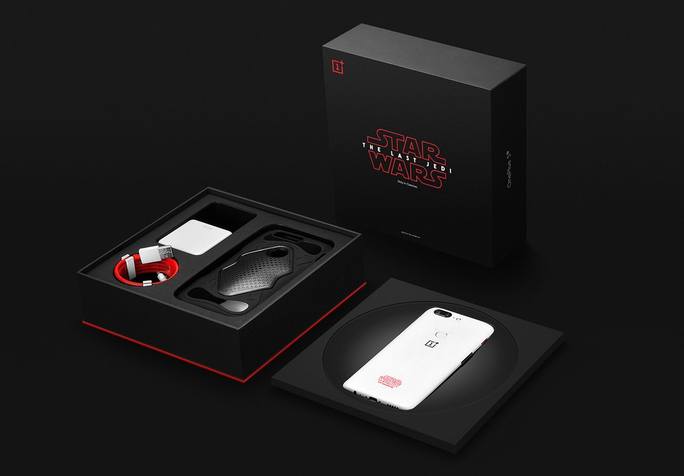 OnePlus lançou edição especial de celular com temática de Star Wars — Foto: Divulgação/ OnePlus