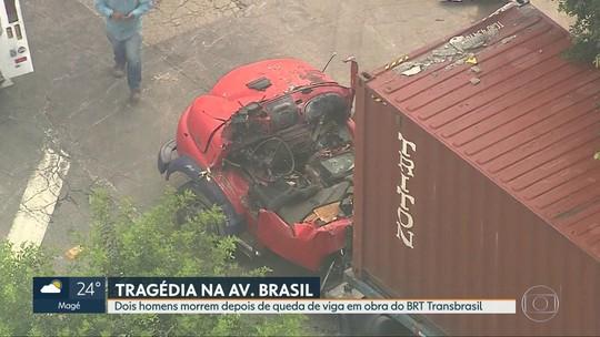Dois homens morrem em queda de viga em obras de expansão de viaduto do BRT Transbrasil