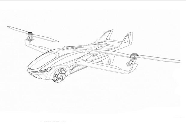 Aeromobil 5.0 teve seu desenho registrado pela empresa no INPI (Foto: Divulgação)