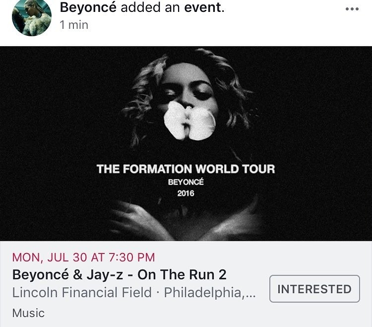 Beyoncé e Jay-Z anunciam On The Run 2 (Foto: Reprodução/Instagram)