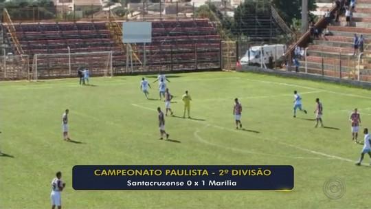 Marília vence, garante liderança e tira a Santacruzense do G-4 da Segundona